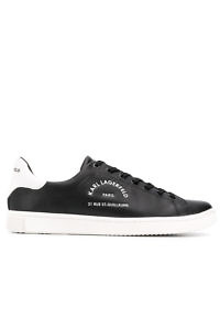 KARL LAGERFELD Sneakers 'Rue St-Guillaume' Sneakers in black leather with white details - PREORDER