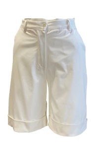 Ivory Bermuda shorts in cotton stretch CHIARA