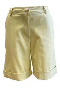 ASITA SAHABI vanilla yellow shorts in cotton stretch CHIARA