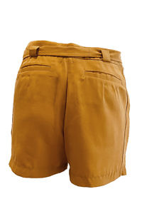 ASITA SAHABI shorts in mustard yellow tencel NICOLE | yellow paperbag shorts