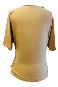 ASITA SAHABI cognac jersey top | cognac jersey tee SILVIA