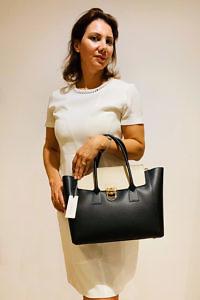 GIANNI NOTARO Carol J Tasche | schwarze Leder-Tasche
