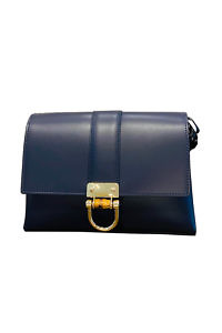 GIANNI NOTARO | small marine blue leather cross body bag