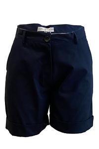ASITA SAHABI shorts in marine blue cotton | dark blue Bermuda shorts