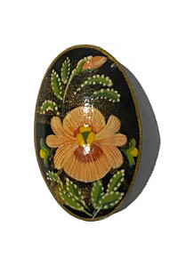 hand painted wooden brooch ROSE | Russian brooch