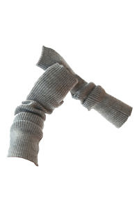 long grey cuffs in 100% cashmere | grey cashmere cuffs | Arm Warmers | Cashmere Fingerless Long Gloves