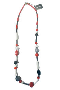 JEAN ANDRÉ necklace in white, red and black made of resin MANHATTAN