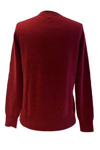 wine red premium quality round neck cashmere sweater BEATE