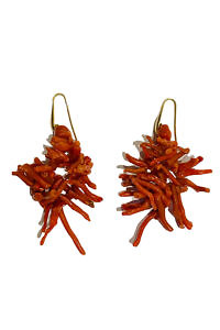 red earrings with corals FILICUDI