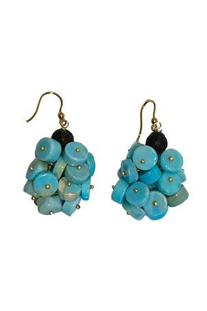 earrings with turquoise ELBA