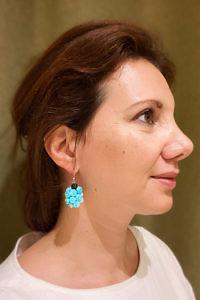 Ohrringe mit türkisfarbenen Steinen ELBA | türkisfarbene Ohrringe