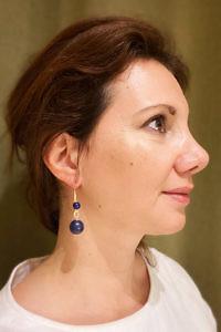 Ohrringe mit Ohrringen mit Lapislazuli LALA