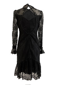 ASITA SAHABI black cocktail dress with cutouts | black lace dress