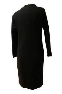 ASITA SAHABI Etuikleid aus schwarzer Wollmischung   schwarzes Wollkleid