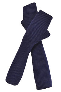 long ink blue cuffs in 100% cashmere | blue cashmere cuffs | Arm Warmers | Cashmere Fingerless Long Gloves