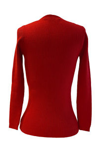 bright red premium quality boat neck cashmere sweater LEA | slim fit | ripped structure