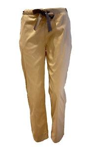 7/8 relax pants in beige cotton MAYA