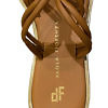 PAOLA FIORENZA Capri | brown leather sandals with golden details and Swarovski stones TERRA