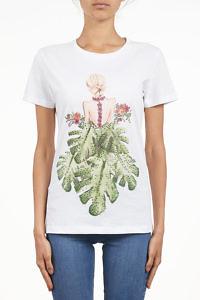 SETTEPUNTOZERO T-shirt | woman with leaves