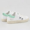 WOMSH Vegan and sustainable Sneakers VEGAN KINGSTON WHITE WATE in white and mint with a contrasting band in silver